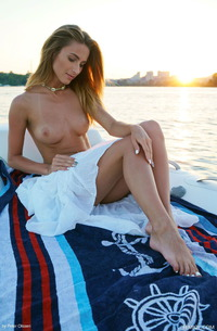 Naked Cara Mell Teasing On A Boat