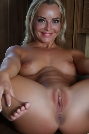 Horny Blonde Emma Button
